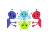 Frechen Außerirdischen Wandtattoo von Stickerscape - Wandaufkleber (Reguläres Größe)