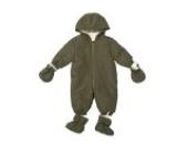 Baby Winteroverall für Jungen Größe: 62-68 Farbe: Grün Abnehmbare Füßchen und Handschuhe mit Kapuze