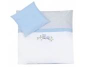 JULIUS ZÖLLNER Bettwäsche 80 x 80 cm kleine Eulen blau