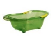 dBb-Remond 306009 Badewanne mit Stöpsel und Griffen, grün transparent mit gelben Griffen
