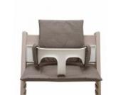 Blausberg Baby - Sitzkissen Kissen Polster Set für Stokke Tripp Trapp Hochstuhl- Einheitsgröße, Taupe (Schlammbraun) Pünktchen