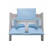 Blausberg Baby - Sitzkissen Kissen Polster Set für Stokke Tripp Trapp Hochstuhl- Einheitsgröße, Hellblau Sterne