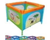 Infantastic Reisebett Kinderbett Klappbett Farb- und Musterwahl inkl. Matratze, Tasche & Spielringe (Savannah)