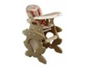 Babyhochstuhl Kinderhochstuhl ARTI Betty J-D008 Coffee Elephant Baby Kinder Hochstuhl Kombihochstuhl Tisch und Stuhl