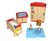 Goki Puppenhausmöbel für das Kinderzimmer [Kinderspielzeug]