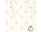 Alvi Babydecke Jersey Kringel weiß 75x100 cm