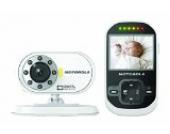 Motorola MBP 26 - Video Babyphone mit 2.4 Zoll Farbdisplay und bis zu 300 Meter Reichweite, weiß