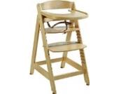 roba Treppenhochstuhl 'Sit Up MAXI', extragrosser Holz Hochstuhl inkl. Essbrett und Bügel, mitwachsend vom Babyhochstuhl bis zum Jugendstuhl, natur