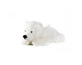 Eisbär Schneeflocke liegend - 100 cm - - Plüschtier von Steiner - handgefertigt in Deutschland - XXL Kuscheltier
