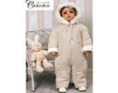 Baby Winteroverall Schneeanzug beige Modell 4648 (74)