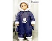 Baby Winteroverall Schneeanzug dunkelblau Modell 4648 (68)