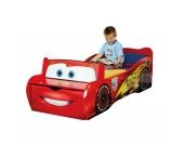 Kinderbett Cars mit Sitzbank und Spielzeugbox, 70 x 140 cm