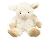 Inware 8745 - Kuscheltier Schaf, creme, als Wärmetier, Füllung herausnehmbar