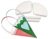 edumero Geschenkkörbchen in Kegelform, weiß, 240 Stück