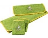Kinderbutt Frottier-Set 4-tlg. apfelgrün Größe 70x110 cm + 50x70 cm + 15x21 cm