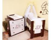 Babyzimmer Teddybär sparset incl. Babybett , Wickelkommode , Ausstattung - Komplettset (creme)