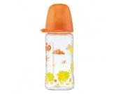 nip Glasflasche mit Weithalstrinksauger Silikon Gr. 0+ 240 ml Girl Reh - Gr.125ml-250ml