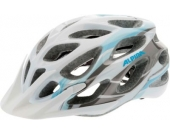 ALPINA 52-57 Fahrradhelm Mythos white-lightblue-darksilver Gr. 52-59
