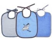 3 tlg. Lätzchen Set 3 Binde Lätzchen Farbe blau und weiß Größe: 25x30 cm