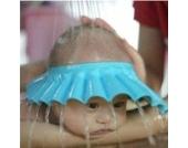 Chianrliu Einstellbar Shampoo Bade Bad SchüTzen Weiche Kappe Hut für Baby (Blau)