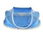Faltbares Sommer Baby-Bett Spielraum-Zelt mit Moskitonetz Insektennetz 105*50*60CM (Himmel Blau)