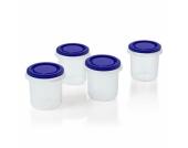 miniland Aufbewahrungsbehälter hermisized blau 4 x 250 ml