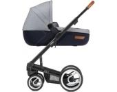Kombi-Kinderwagen Igo, urban nomad white&blue, Gestell black
