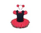 Jastore® Mädchen Kinder Kostüm Halloween Weihnachten Ballettkleid Party Hochzeit Tutu Kleid +Ohren (XL/6-7 Jahre)