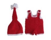 Smile YKK 1 Paar Baby Tier Muster Baby Junge Strick Kleider Fotografie 0-6 Monate Weihnachten Stil Rot Y
