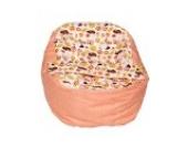 Baby Liegekissen, Lagerungskissen als Alternative zur Babywippe & Babyliege, später als Kindersitzsack einsetzbar, Farbe / Motiv: Marienkäfer beige