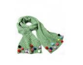 Ayouyou Herbst Winter Mode Mädchen Gestrickte Warme Bonbonfarbenen Schal mit Fransen Schal (Grün)