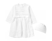 Baby Set aus Taufkleid +Mütze LENA Gr. 86 Mädchen Kleinkinder