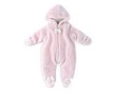 hibote Baby Overall aus Fleece Strampler Neu geboren Unisex Schlafanzug Samt Baumwolle Fleeceanzug Footed Schneeanzug Winter Jumpsuit