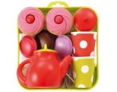 Tee-Set Tablett mit Cupcakes Spielgeschirr