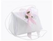 Traumhafte Schnullertasche Handtasche WEISS rosa