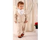 SWEET MOMENT`s Nr. 208 ELEGANTER Taufanzug Smoking Anzug-Set 5-teilig BEIGE Gr��e 62-92