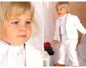 Nr.202 ELEGANTER Taufanzug Smoking Anzug-Set 5-teilig WEISS Gr: 62-104