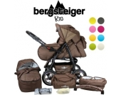 Bergsteiger RIO 8 Farben Kombi Kinderwagen + Softtragetasche + Wickeltasche (10 - teilig)