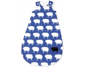 Pinolino Schlafsack Happy Sheep Sommer, blau
