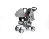 Kombikinderwagen / Travelsystem Babyschale + Sportwagen A7605AL von UNITED-KIDS, Grau