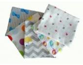 Babymajawelt10018 Mullwindeln Spucktücher 5er Pack, 70 x 80 cm, bunt