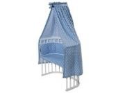 Nestbauglück BettSet für Beistellbett, Sterne hellblau