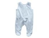 LUCE Bio Baby-Strampler ohne Ärmel (Jersey)-Größe 1 (44 – 48 cm)-LUCE Bio Blau