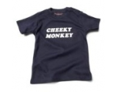 Cheeky Monkey Baby – Marineblau (Navy Blue) Tee Shirt, 0 – 6 Monate