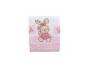 Baby Decke für Mädchen mit Häschenstickerei, 100% Baumwolle (Einheitsgröße) (rosa)