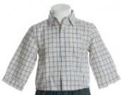 Kinderit Langarm Karo Hemd Blau 80