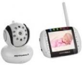 Motorola 188610 MBP36 Digitales Babyphone mit 3,5 Zoll Farbdisplay am Empfänger und Kamera im Sender