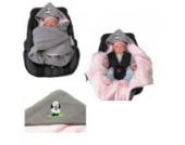 Babyschalendecke mit Applikation von HOBEA-Germany - verschiedene Farben, Farben Winterdecken:grau rosa