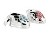 Das 2-teilige Geschenkset Babyschuhe als Locken- & Zahndose - Versilberte Babyschuhe Döschen mit Wunschgravur von Geschenkbox®