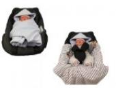 Hobea Decke für Kindersitz / Babyschale, Berry Pink